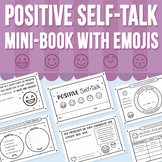 Positive Self-Talk Mini-Book With Emojis (Distance Learning)