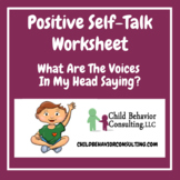 Positive Self-Talk Worksheet
