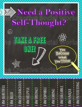 Positive Self-Thought Poster