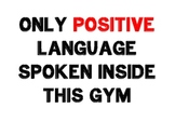 Positive Signs for Gym