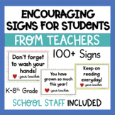 Positive Social Media, Yard, and Window Signs for Students