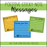Positive Sticky Note Messages