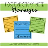 Positive Sticky Note Messages #digitaldollarspot