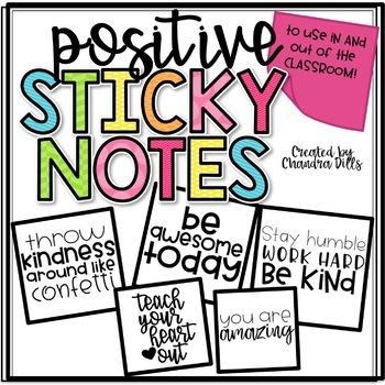 Positive Sticky Note Printables!