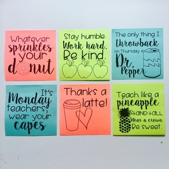 Positive Sticky Notes
