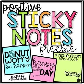 Positive Sticky Notes FREEBIE!