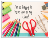 Positive Student Postcard