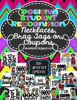 Positive Student Recognition Necklaces (250+ Choices)