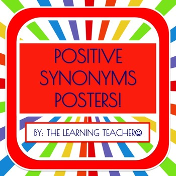 Positive Synonyms Posters