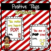 Positive Tags | Popcorn theme | Valentine's Day, Testing,etc