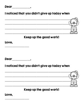 Positive Take Home Notes for Students