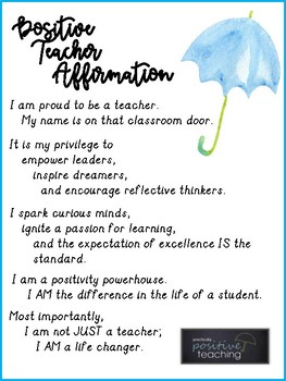 Positive Teacher Affirmation - Practically Positive Teaching Series - Episode 2