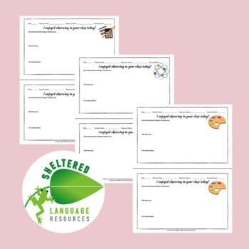 Positive Teacher Feedback and Observation Forms: Bundle All 5 Sets