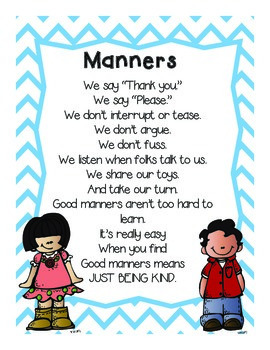 Positive Behavior Student Note Cards & Manners Poem by 2 ...