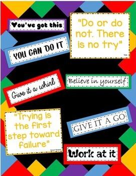 Positive Thinking Bulletin Board