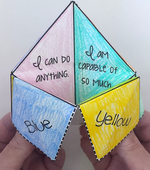 Positive Thinking Fortune Teller Craft By Pathway 2 Success Tpt