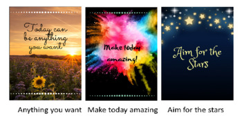 Positive Thinking/ Growth Mindset Classroom Posters (set of 5)