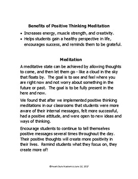 Positive Thinking Guided Meditation (I am flexible and move easily between)