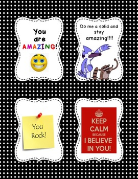 Positive Thinking Locker Notes - Free