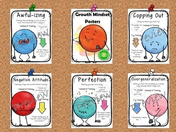 Positive Thinking and Growth Mindset Lesson and Posters