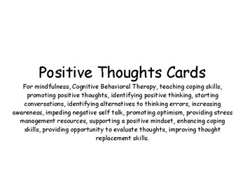 Positive Thoughts Cards- Positive Affirmations