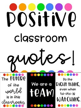 Positive Vibes Classroom Quotes