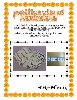 Positive, Visual Reminders & Directions in a Mini Flip Book