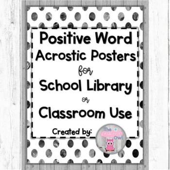 Positive Word Acrostic Posters