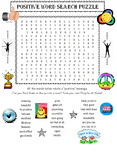 Positive Words Word Search Puzzle