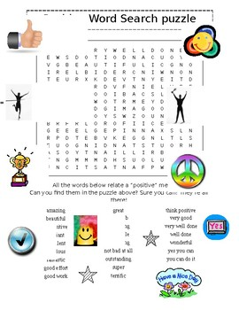 positive words word search puzzle plus nutrition word search 2 puzzles