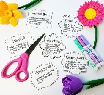Positive Words activity, power of words, self esteem, SEL, Counseling, kindness