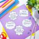 Positive Words activity, the power of words, self esteem,