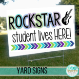 Positive Yard Signs Post Cards Show Off & Support Students