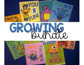 Positive affirmation cards - GROWING BUNDLE