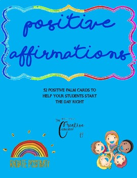 Positive affirmations for student wellbeing