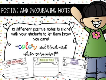 Positive and Encouraging Notes for Students