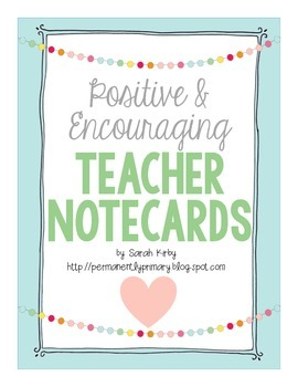 Positive and Encouraging Teacher Notes