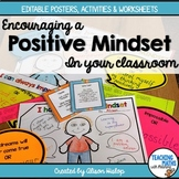 Positive and Growth Mindset - EDITABLE Posters, Activities