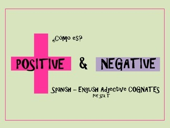 SPANISH Positive and Negative Adjectives