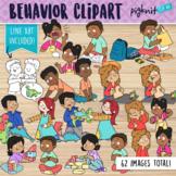 Positive and Negative Behavior Clipart