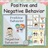 Positive and Negative Behavior Flashcards and File Folders