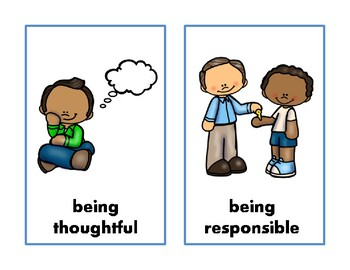 Positive and Negative Behaviour Wall Posters A4 A5 behavior