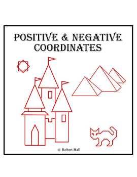 Positive and Negative Coordinates Worksheets