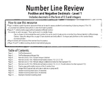 Positive and Negative Decimals and Integers on the Number Line