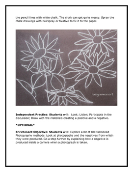 Positive and Negative Drawing of Sunflowers!! Art Lesson!!!