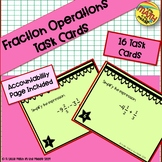 Positive and Negative Fractions Operations Task Cards
