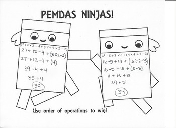 PEMDAS Ninja Activity