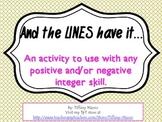 Positive and Negative Integer Number Line