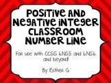 Positive and Negative Integer Number Line CCSS 6.NS.5 & 6.NS.6** RED