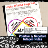 Positive and Negative Integer Rules Lesson for INBs